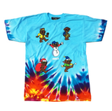 Holiday GRiZ Bears Custom Tie Dye T-Shirt