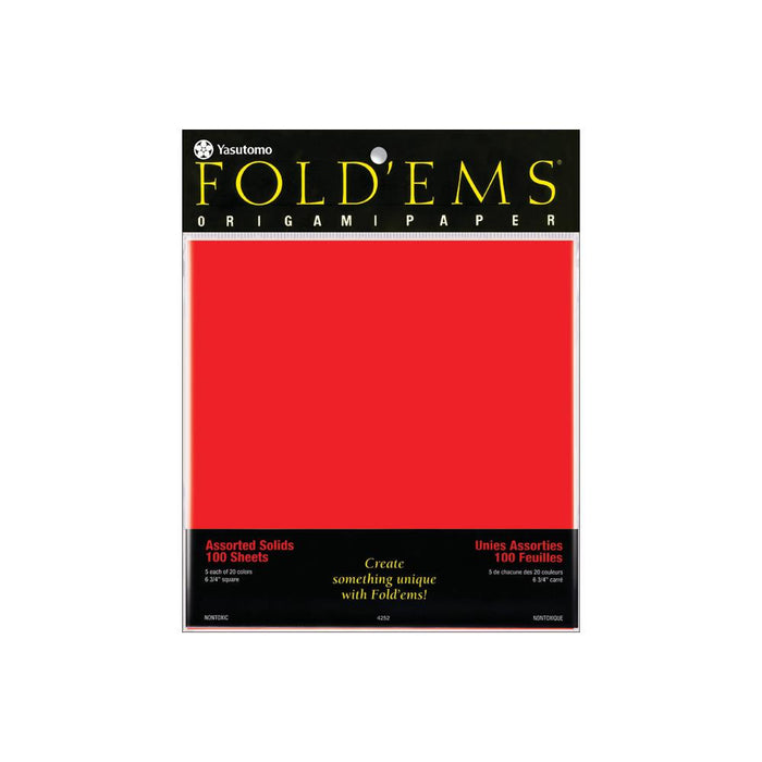 Fold 'Ems Solid Origami Papers - 100pk