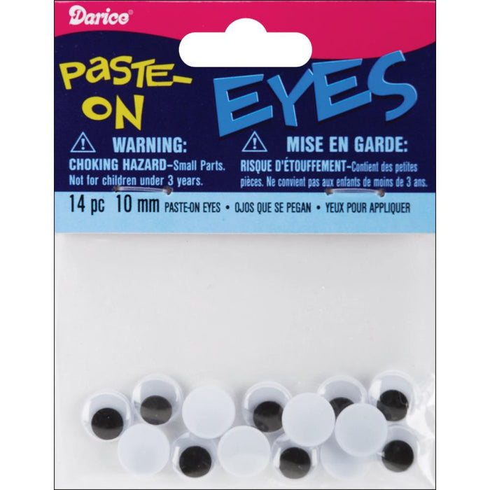 Paste On Wiggle Eyes 10mm