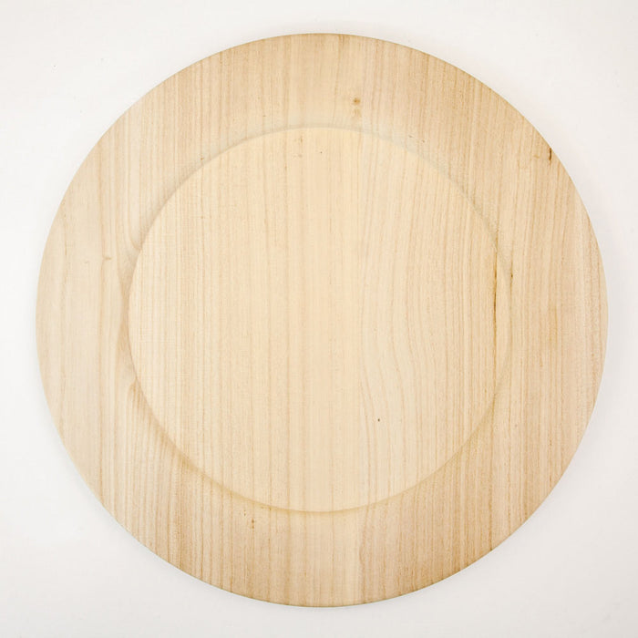"14"" Wooden Plate"