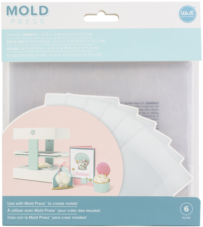 We R Memory Keepers Mold Press Plastic Sheets 6/Pkg