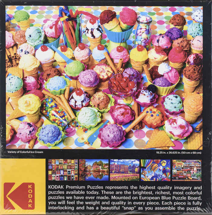 Variety Of Colorful Ice Cream - 1000 pc Puzzle