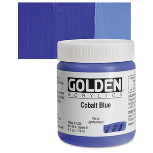 Golden Heavy Body Acrylics - 4oz. - Blues