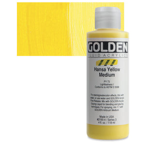 Golden Fluid Acrylics - 4oz. - Yellows