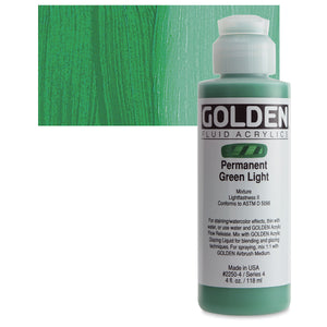 Golden Fluid Acrylics - 4oz. - Greens