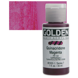 Golden Fluid Acrylics - 1oz. - Pinks & Purples