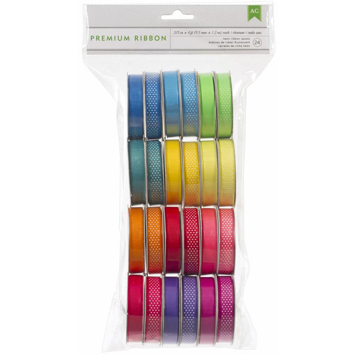 American Crafts Premium Ribbon Value Pack - Neon