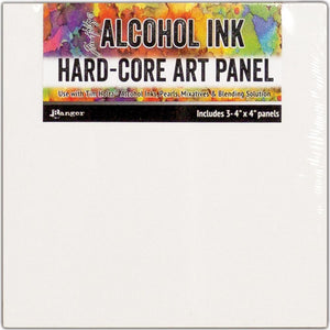 "Alcohol Ink Hard Core Art Panel 4""X4"" 3/Pkg"