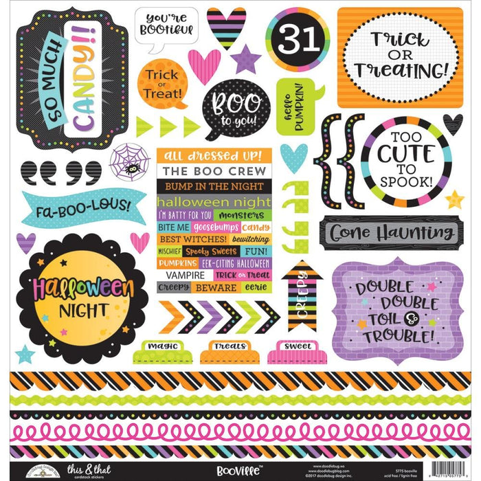 BooVille This & That Cardstock Stickers