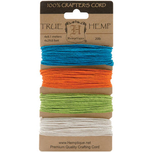 Hemp Cord Set- 20lb. - Bright