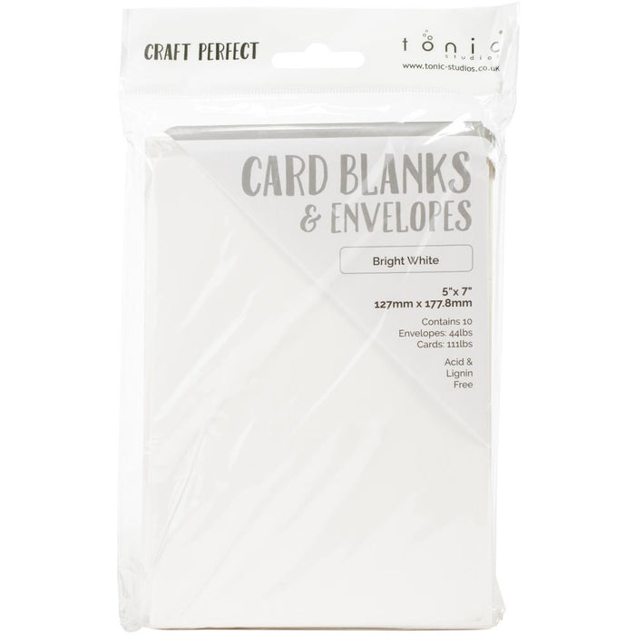 "Craft Perfect Card Blanks 5""X7"" - Bright White"