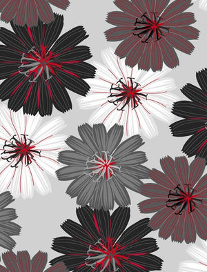 Cherry Pop - Packed Dahlias - Lt. Gray