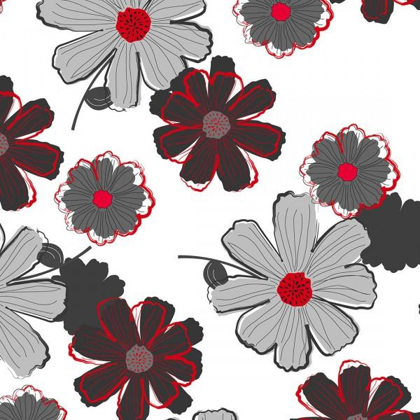 Cherry Pop - Large Floral White