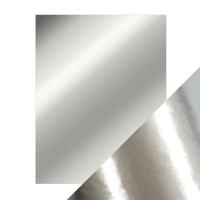 Craft Perfect Mirror Cardstock - Chrome Silver