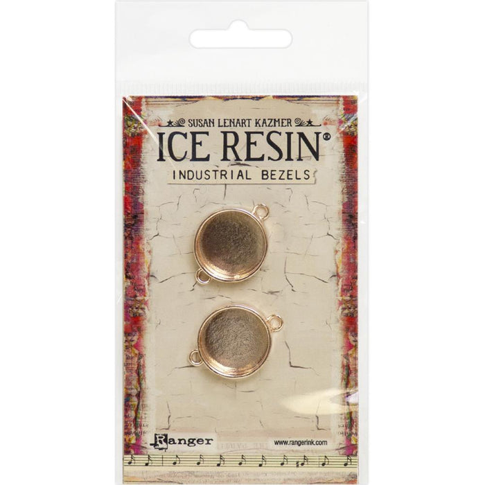 Ice Resin Industrial Bezels - Small Circle - Rose Gold