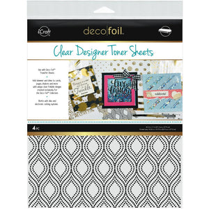 Deco Foil Clear Toner Sheets - Groovy