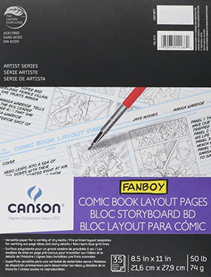 Fanboy Comic Book Layout Pages