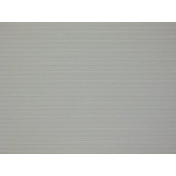 "Plastic Corrugated White Siding - 7.5""X 12"""