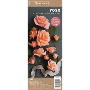 Crepe Paper Flower Kit - Roses