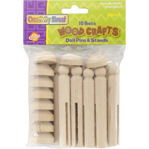 Woodcrafts Doll Pins & Stands