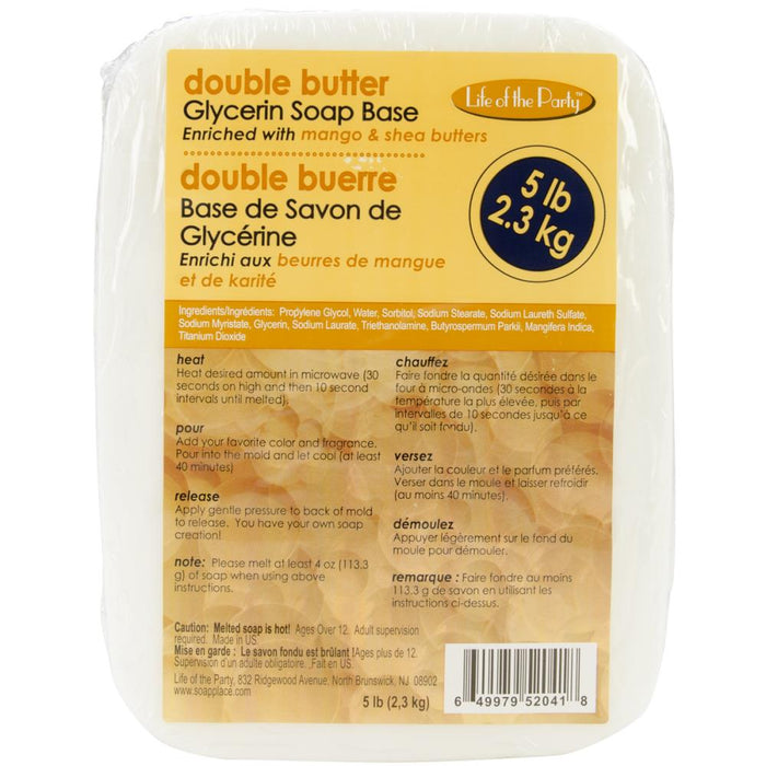 Double Butter Glycerin Soap Base - 5lb