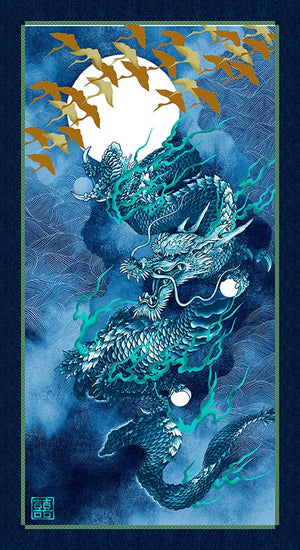 Dragon Moon Panel - Indigo