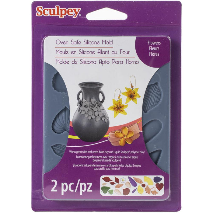 Sculpey Flexible Push Mold - Flowers