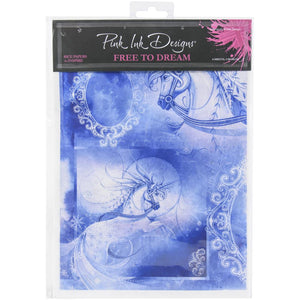 Pink Ink Designs Rice Paper A4 6/Pkg - Free To Dream