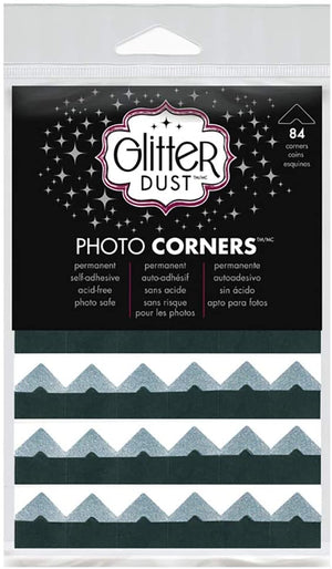 Glitter Dust Photo Corners - Silver