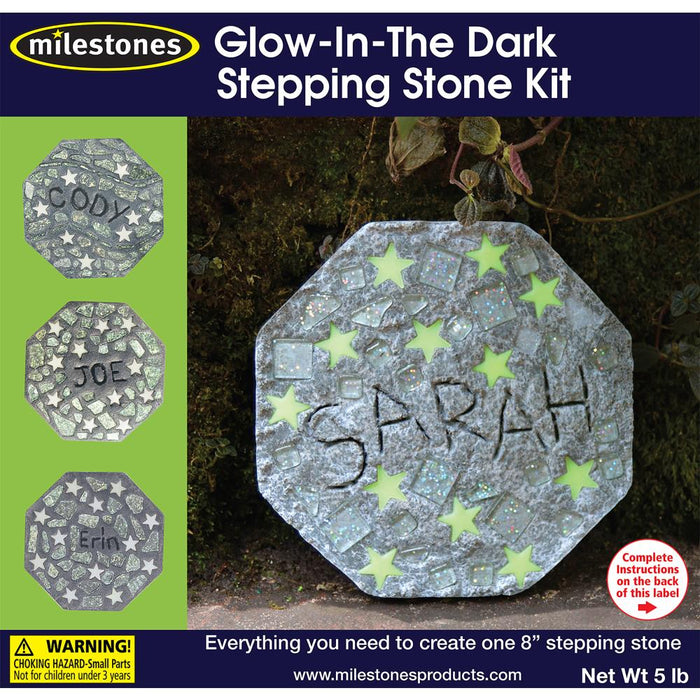 Mosaic Stepping Stone Kit - Glow in the Dark