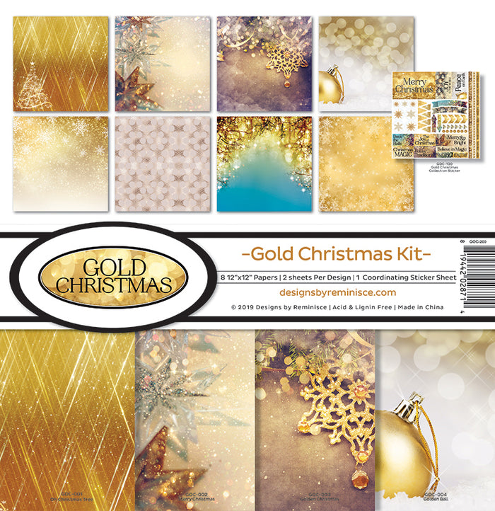 Reminisce Collection Kit - Gold Christmas
