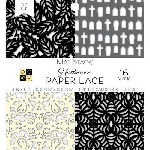 "DCWV Stack 6""X 6"" - Fall Paper Lace"