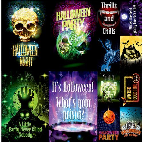 Halloween Party Stickers