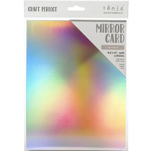 "Craft Perfect Mirror Cardstock 8.5""x 11"" 5/Pkg - Holo Waves"
