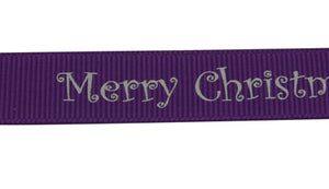 10mm Christmas Ribbon - 100yd roll - Indigo