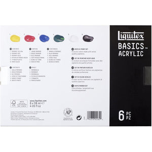 BASICS 6-Colour Acrylic Set - 4 oz.