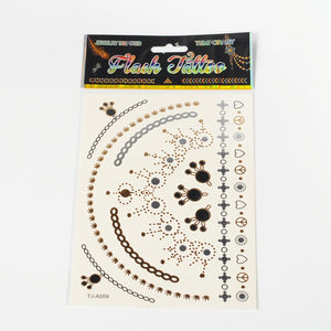 Temporary Metallic Tattoos - Assorted Necklace