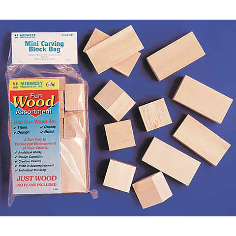 Mini Carving Basswood Blocks Set
