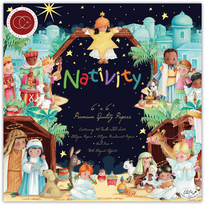 "Craft Consortium Paper Pad 6""X6"" - Nativity"