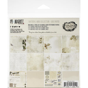 "Vintage Artistry Natural 6""x 6""  Collection Pack"