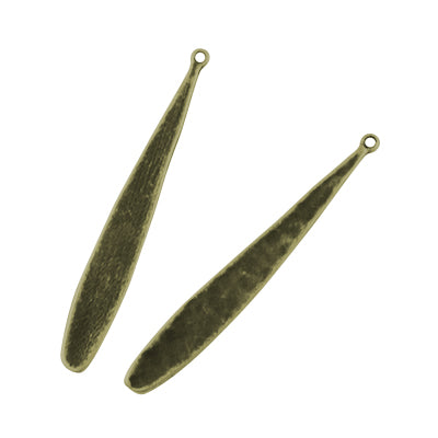 Antique Bronze Paddle Pendants - 100/Pk