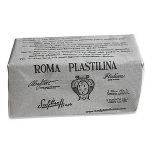 Roma Plastilina #3 Medium-Firm Grey-Green 2 lb.