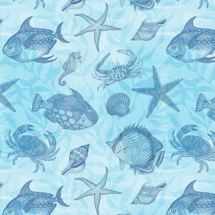 Seaside Wonders Toile - Blue