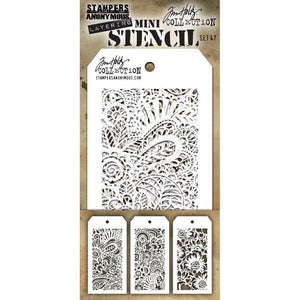 Tim Holtz Mini Layered Stencil Set #47