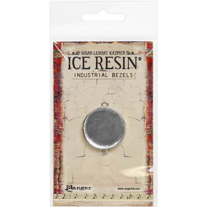 Ice Resin Industrial Bezel - Medium Circle - Sterling