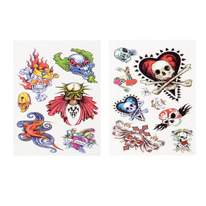 Temporary Tattoos Mini Book of Skulls