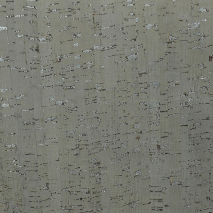 "Taupe Cork with Silver Metallic Fabric - 25"" wide"