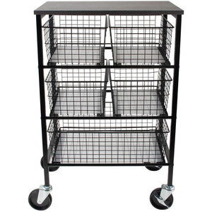 Tim Holtz Rolling Utility Basket Storage Cart