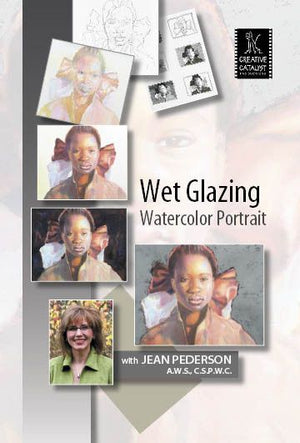 Wet Glazing Watercolor Portrait