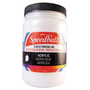 Acrylic Screen Printing Ink - White - 32 oz.